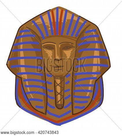 Tutankhamun, Gold Tomb Of Pharaoh Mummy Vector