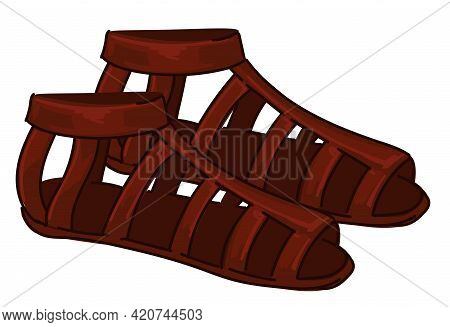Ancient Maya Clothes, Leather Shoes Or Sandals