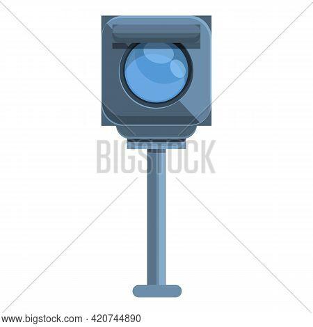 Speed Radar Flash Icon. Cartoon Of Speed Radar Flash Vector Icon For Web Design Isolated On White Ba