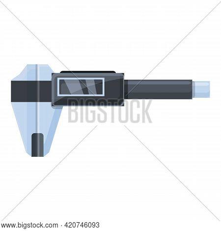 Digital Micrometer Metal Icon. Cartoon Of Digital Micrometer Metal Vector Icon For Web Design Isolat