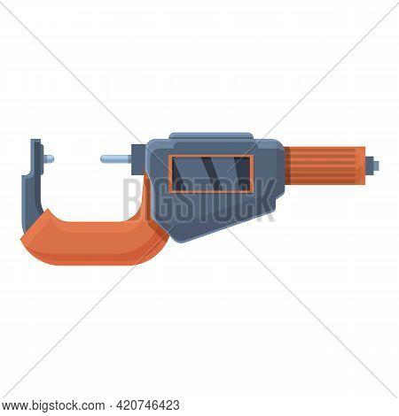 Digital Micrometer Precision Icon. Cartoon Of Digital Micrometer Precision Vector Icon For Web Desig