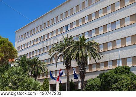 Split, Croatia - July 20, 2019: City Hall Building (banovina) In Split, A Major City In Dalmatia Reg