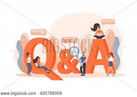 Frequently Asked Questions Page Template. Vector Web Banner. Customer Service. Flat Isometric Vector