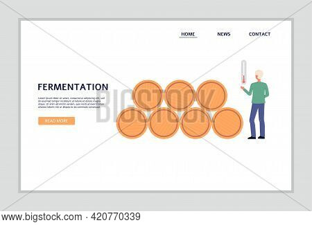 Wine Production Stage - Fermentation Process A Vector Design For Web