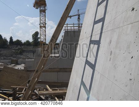A Ladder For Climbing Up When People Working At Height