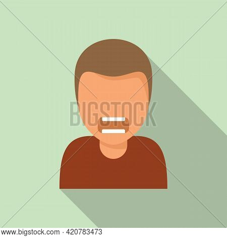 Angry Man Icon. Flat Illustration Of Angry Man Vector Icon For Web Design