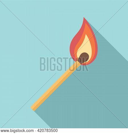 Burning Match Stick Icon. Flat Illustration Of Burning Match Stick Vector Icon For Web Design
