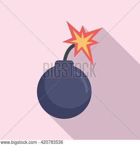Rage Bomb Icon. Flat Illustration Of Rage Bomb Vector Icon For Web Design