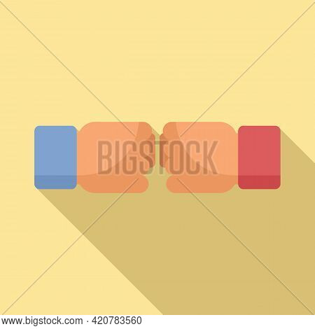 Fist Abuse Icon. Flat Illustration Of Fist Abuse Vector Icon For Web Design