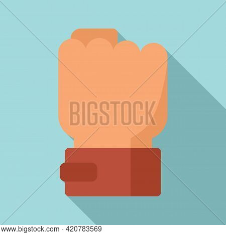 Power Fist Icon. Flat Illustration Of Power Fist Vector Icon For Web Design