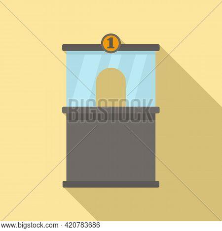 Bank Teller Icon. Flat Illustration Of Bank Teller Vector Icon For Web Design