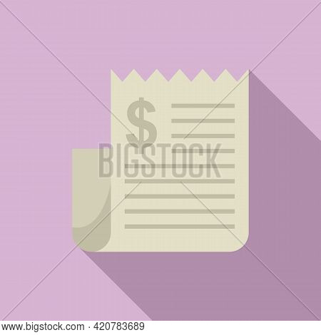 Bank Teller Payment Icon. Flat Illustration Of Bank Teller Payment Vector Icon For Web Design