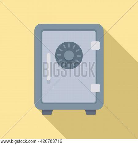 Bank Teller Money Safe Icon. Flat Illustration Of Bank Teller Money Safe Vector Icon For Web Design