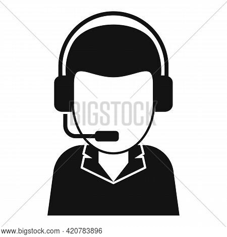 Bank Teller Call Support Icon. Simple Illustration Of Bank Teller Call Support Vector Icon For Web D
