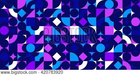 Seamless Geometric Pattern, Abstract Vector Background For Wallpaper Or Websites Or Wrapping Paper P
