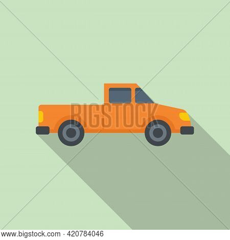Hitchhiking Pickup Icon. Flat Illustration Of Hitchhiking Pickup Vector Icon For Web Design