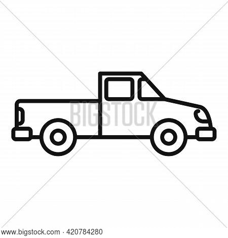 Hitchhiking Pickup Icon. Outline Hitchhiking Pickup Vector Icon For Web Design Isolated On White Bac