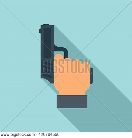 Running Start Gun Icon. Flat Illustration Of Running Start Gun Vector Icon For Web Design