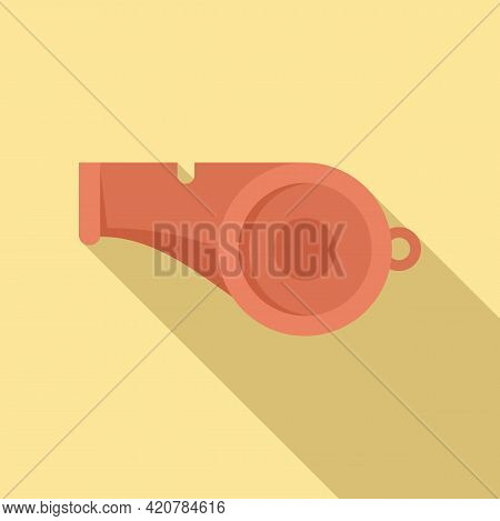 Running Whistle Icon. Flat Illustration Of Running Whistle Vector Icon For Web Design