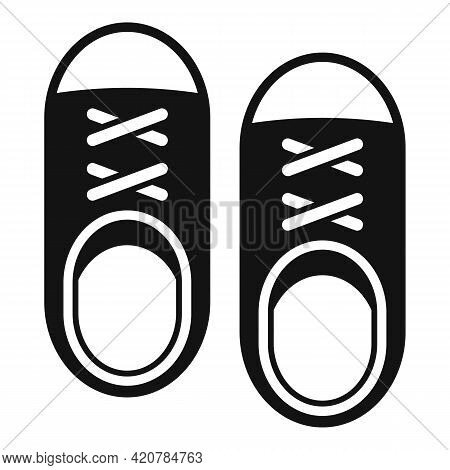 Running Shoes Icon. Simple Illustration Of Running Shoes Vector Icon For Web Design Isolated On Whit