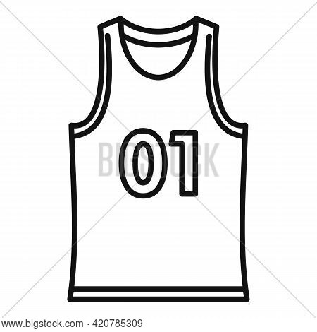 Running Vest Icon. Outline Running Vest Vector Icon For Web Design Isolated On White Background
