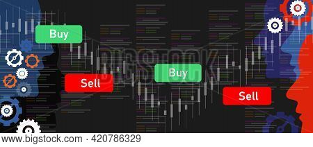 Algorithmic Trading Robot Transaction Trade Automation Financial Market Software Buy And Sell Stock