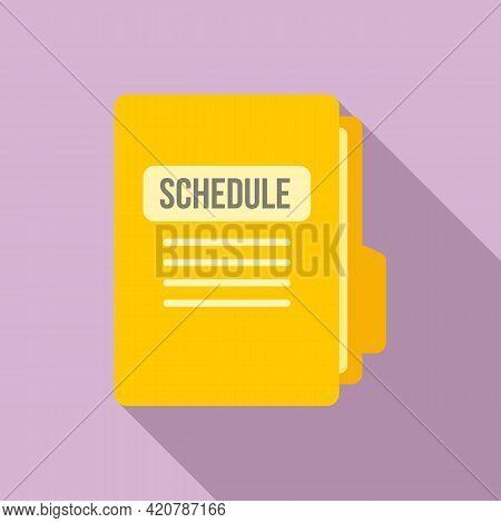 Syllabus Folder Schedule Icon. Flat Illustration Of Syllabus Folder Schedule Vector Icon For Web Des