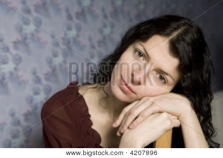 Portrait Of Young Thoughtful Woman