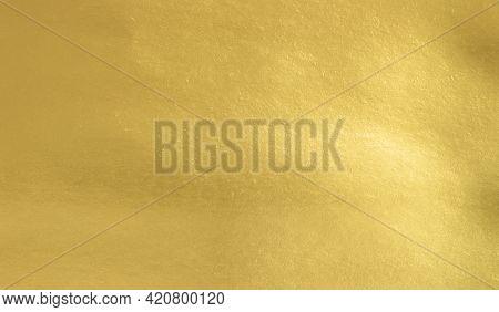 Gold Foil Paper Texture Background, Shiny Luxury Foil Horizontal With Unique Design Of Paper, Soft N