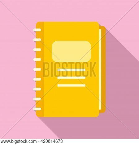 Syllabus Daily Notebook Icon. Flat Illustration Of Syllabus Daily Notebook Vector Icon For Web Desig