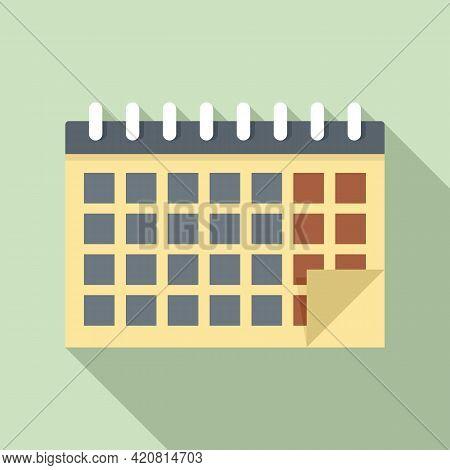 Syllabus Calendar Icon. Flat Illustration Of Syllabus Calendar Vector Icon For Web Design