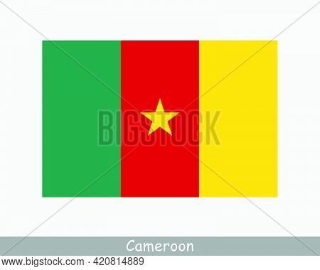National Flag Of Cameroon. Cameroonian Country Flag. Republic Of Cameroon Detailed Banner. Eps Vecto