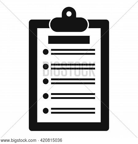 Syllabus Clipboard Icon. Simple Illustration Of Syllabus Clipboard Vector Icon For Web Design Isolat