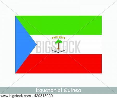 National Flag Of Equatorial Guinea. Equatoguinean Country Flag. Republic Of Equatorial Guinea Detail