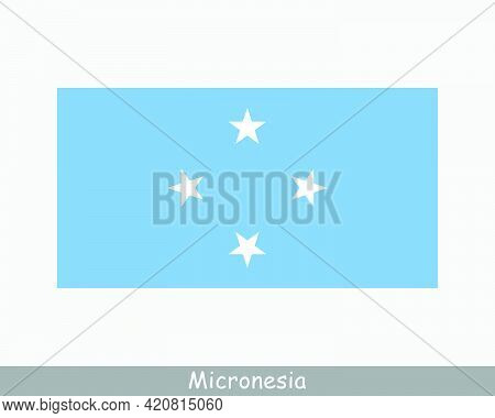 National Flag Of Micronesia. Micronesian Country Flag. Federated States Of Micronesia Detailed Banne