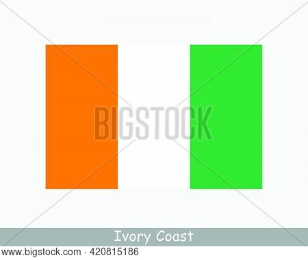 National Flag Of Ivory Coast. Ivorian Country Flag. Republic Of Côte D'ivoire Detailed Banner. Eps V