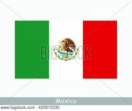 National Flag Of Mexico. Mexican Country Flag. United Mexican States Detailed Banner. Eps Vector Ill