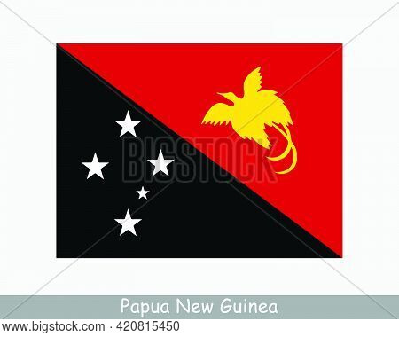 National Flag Of Papua New Guinea. Independent State Of Papua New Guinea Detailed Banner Country Fla