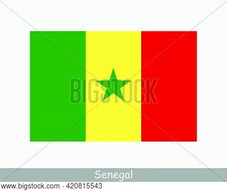 National Flag Of Senegal. Senegalese Country Flag. Republic Of Senegal Detailed Banner. Eps Vector I