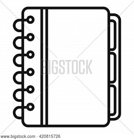 Syllabus Planner Icon. Outline Syllabus Planner Vector Icon For Web Design Isolated On White Backgro