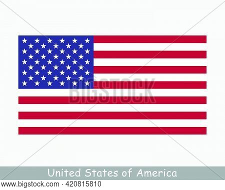 National Flag Of The United States Of America. Us Usa Country Flag. American Detailed Banner. Eps Ve