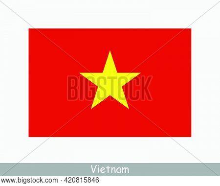 National Flag Of Vietnam. Vietnamese Country Flag. Socialist Republic Of Vietnam Detailed Banner. Ep