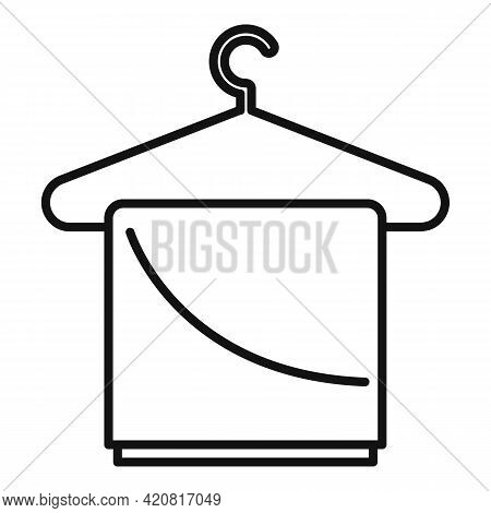 Dryer Clothes Hanger Icon. Outline Dryer Clothes Hanger Vector Icon For Web Design Isolated On White