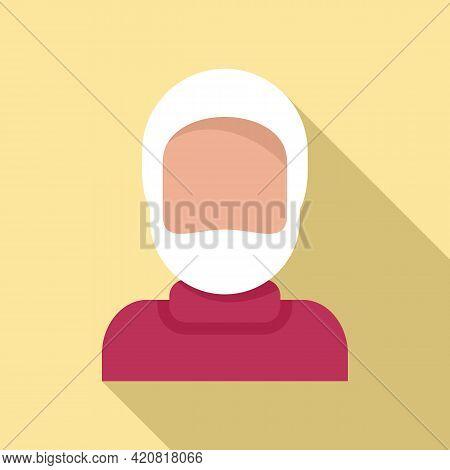 Retirement Grandpa Icon. Flat Illustration Of Retirement Grandpa Vector Icon For Web Design