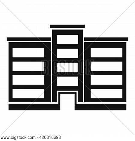 Pension Building Icon. Simple Illustration Of Pension Building Vector Icon For Web Design Isolated O