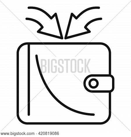 Retirement Wallet Money Income Icon. Outline Retirement Wallet Money Income Vector Icon For Web Desi