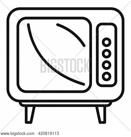 Old Tv Set Icon. Outline Old Tv Set Vector Icon For Web Design Isolated On White Background