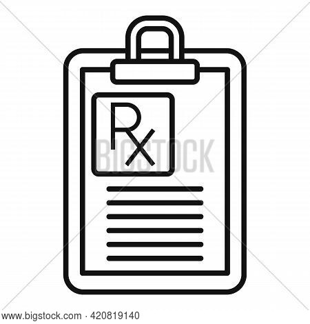 Retirement Clipboard Icon. Outline Retirement Clipboard Vector Icon For Web Design Isolated On White