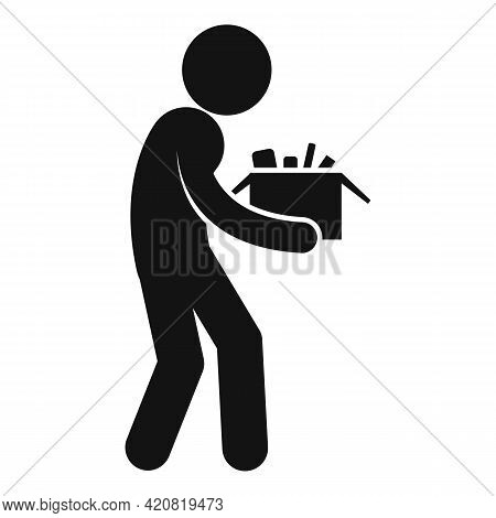Jobless Manager Icon. Simple Illustration Of Jobless Manager Vector Icon For Web Design Isolated On