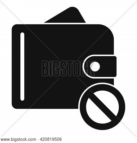 No Money Wallet Icon. Simple Illustration Of No Money Wallet Vector Icon For Web Design Isolated On